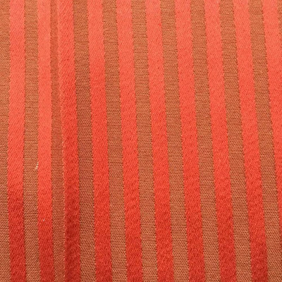 """Elegant Stripes in Fiesta Red Upholstery Fabric   By Stroheim   54"""" Wide   BTY"""