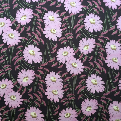 """Floral Brown and Mauve 