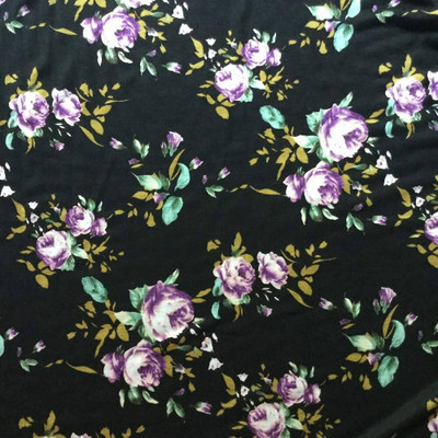 """Roses in Purple on Black 