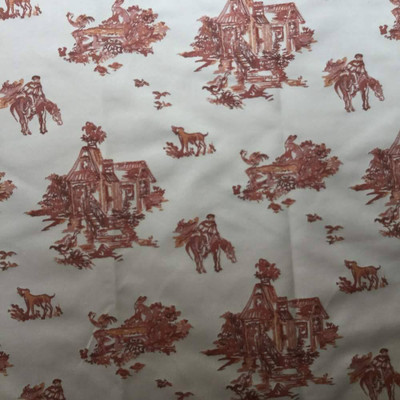 """Spanish Chinoiserie in Orange and Beige   Upholstery Fabric   54"""" Wide   BTY"""