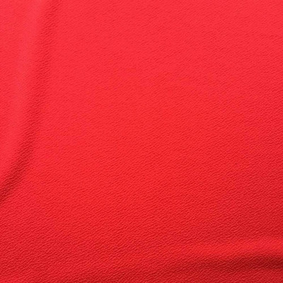 """Bright Red Crepe Knit Apparel Fabric 