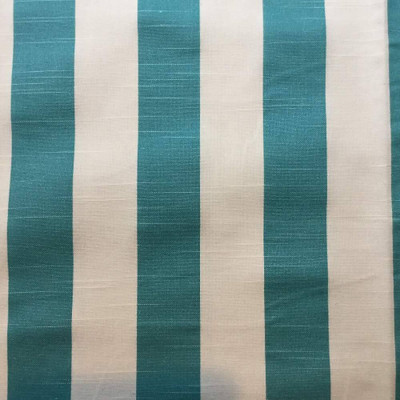 """Vertical Aqua Blue Stripes Upholstery / Drapery Fabric 
