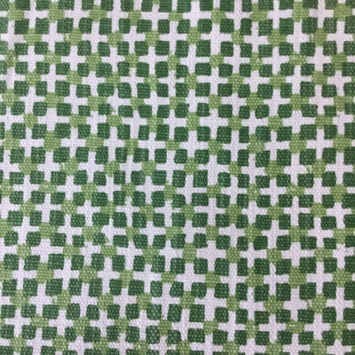 Geometric Square Dabs in Green | Upholstery Fabric | Premier Prints | 54 W | BTY