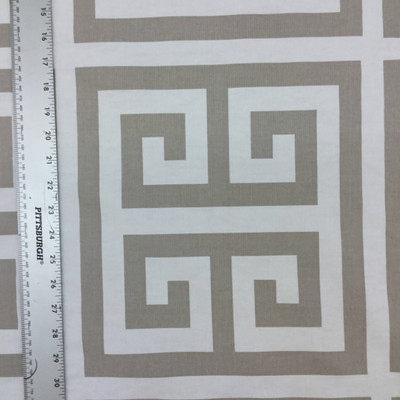 Greek Key in Taupe / White | Home Decor Fabric | Premier Prints | 54 W | BTY