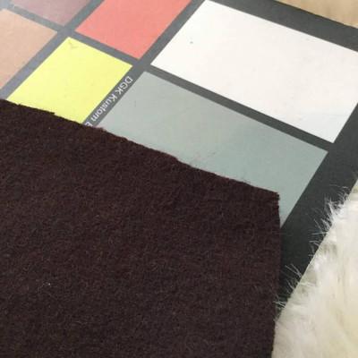 Auburn Brown Melton / Velour Wool Coating Fabric | 80/20 Blend | 20 oz | 54 W