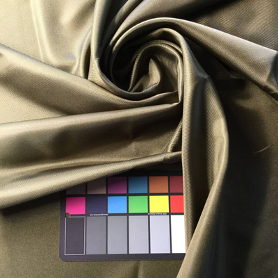 Olive Green Satin Fabric | Woven Poly | Apparel Linings Lingerie Drapes Crafts