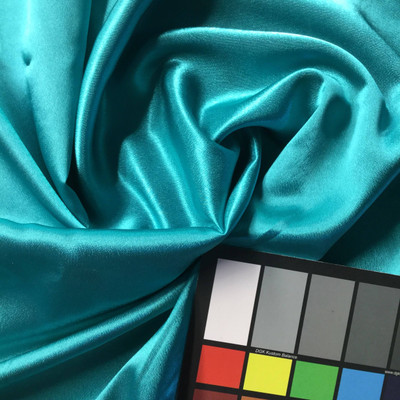 Teal Poly Satin Fabric | Lightweight | Apparel Linings Crafts Scrunchies