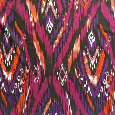 Abstract Aztec Knit Jersey Fabric | Poly Blend Stretch Jersey | Apparel T Shirts Headbands Scarfs Throw Maxi Dress