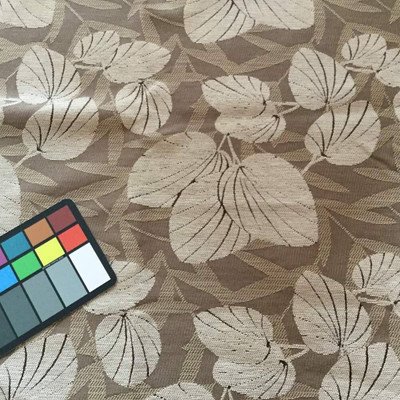 Leaf Fronds in Tan Chenille   Upholstery Fabric   56 Wide   By the Yard   Soft