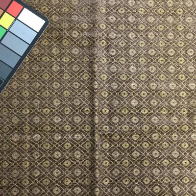 Geometric Diamond in Brown Chenille | Upholstery Fabric | 55 Wide | By the Yard