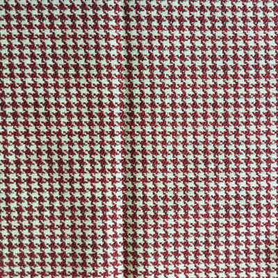 Red and White Houndstooth   Upholstery / Slipcover Fabric   57 W   By the Yard
