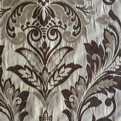 Floral Damask in Brown and Tan   Upholstery Fabric   58 Wide   By the Yard