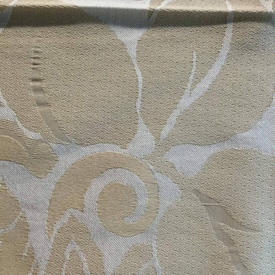 Golden Yellow Floral Brocade   Drapery / Slipcover Fabric   58 W   By the Yard