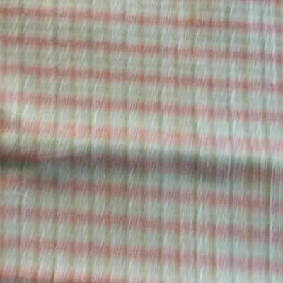 Green, Orange, Beige Plaid Upholstery / Slipcover Fabric | 58 Wide | By the Yard