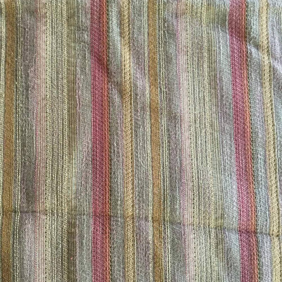 Orange and Red Uneven Stripes |  Upholstery Fabric | 53 Wide | By the Yard
