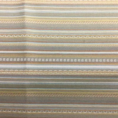 Horizontal Decorative Stripes in Tan | Upholstery Fabric | 56 Wide | By the Yard