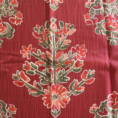 Large Scale Floral in Red / Pink | Home Decor Fabric | 55 Wide | By the Yard