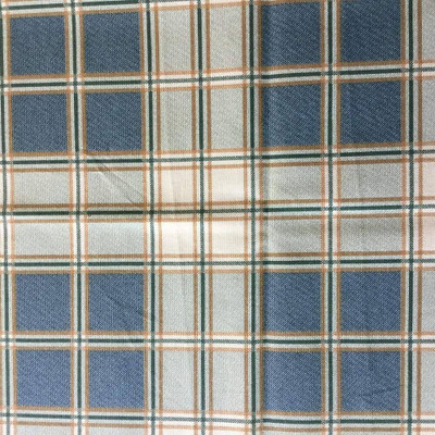 Plaid in Blue, Gray, Brown, and Beige   Home Decor Fabric   54 W   By the Yard