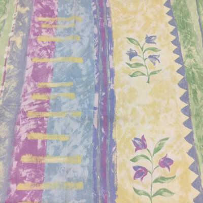 Textural Stripe by Wallquest | Blue, Yellow, Green, Purple | Home Decor Fabric