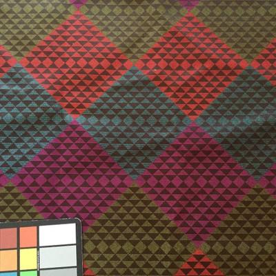 Geometric Diamonds in Purple / Red / Green / Blue | Upholstery Fabric | 60 W