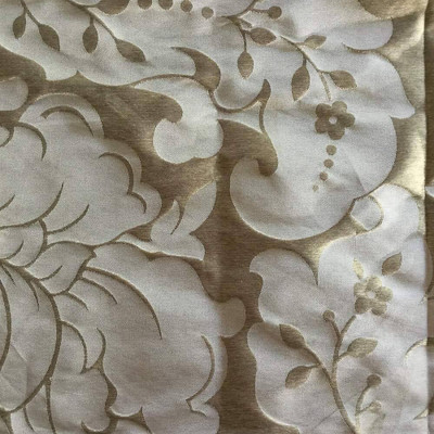 Brown and Beige Floral | Drapery / Upholstery Fabric | 62 Wide | By the Yard