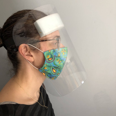 Double Polished Crystal Clear   PPE   Face Shield Mask   COVID-19