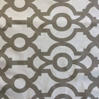 Scrollwork in Taupe / White | Premier Prints | Home Decor Fabric | 54 Wide | BTY