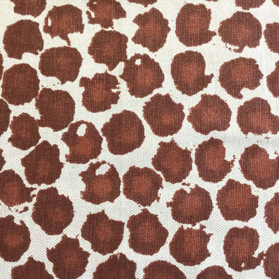 Painterly Dots in Brick / Natural | Premier Prints | Home Decor Fabric | 54 Wide