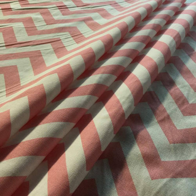 Light Pink and White Chevron | Premier Prints | Home Decor Fabric | 54 Wide