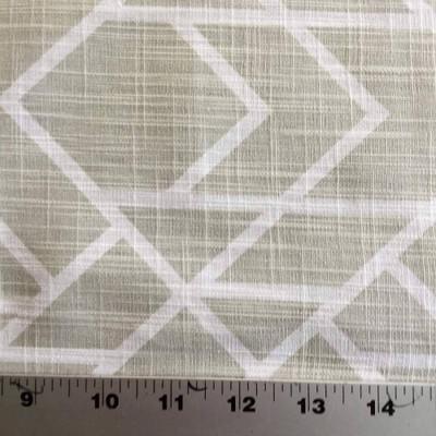 Alpine Geometric in Beige / White   Premier Prints   Home Decor Fabric   54 Wide