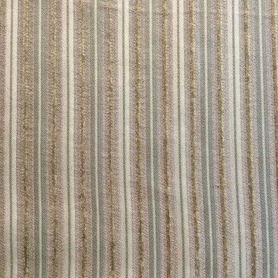 Textured Chenille Striped Browns / Tan   Heavyweight Upholstery Fabric   54 W