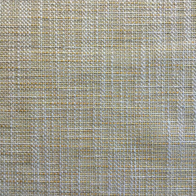 Yellow / Beige Thick and Thin Basketweave Fabric   Heavy Duty Upholstery   54 W