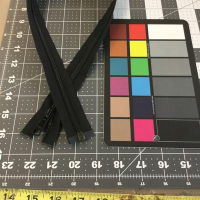 "27"" Separating Coil Zipper | Black | YKK Brand | Jacket Zipper"