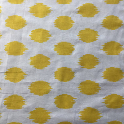 Yellow / White Ikat Dots | Home Decor Fabric | Premier Prints | 45 Wide | BTY