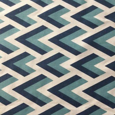 Geometric Peaks Blue / Natural   Home Decor Fabric   Premier Prints   45 Wide