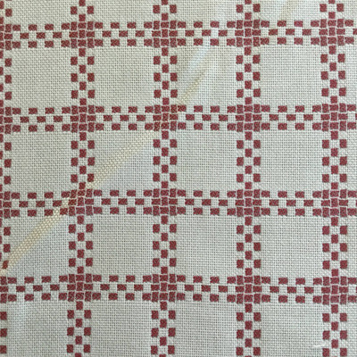 Checked Plaid in Red / White | Drapery / Upholstery Fabric | Sunbrella | 54 Wide