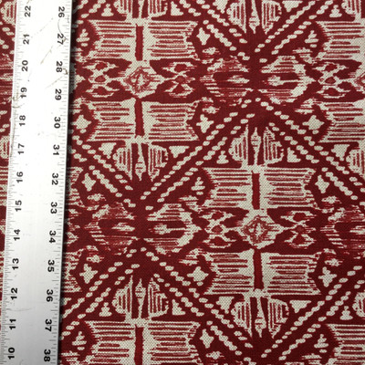 Modern Boho Chic in Red | Canvas Home Decor Fabric | Lacefield | 54 Wide | BTY