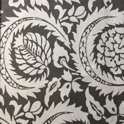 Large Scale Leaf Damask   Home Decor Fabric   Gray / Natural   Lacefield   54 W