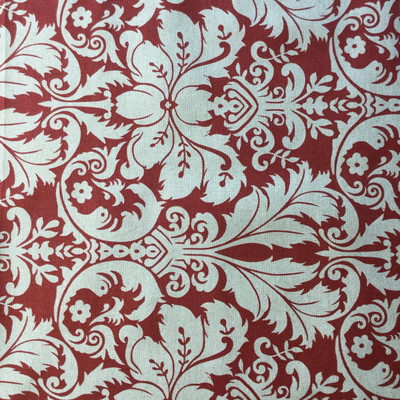 """Modern Damask Red / Natural Beige 