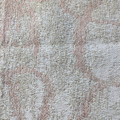 Pink / White Abstract Contemporary Fabric   Heavy Duty Upholstery   54 Wide