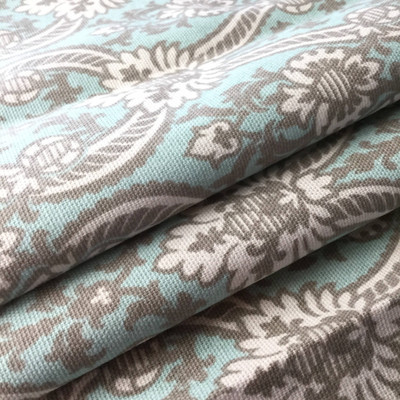 Blue / Gray Damask | Drapery / Slipcover Fabric | Richloom | 45 W | By the Yard