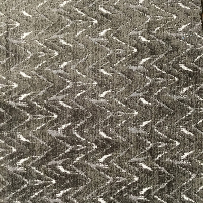 Brown Chevron Chenille Fabric   Heavyweight Upholstery   54 Wide   By the Yard
