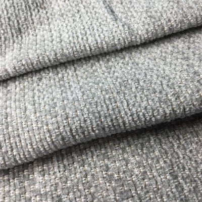 Tone on Tone Silver Grey Chenille   Heavyweight Upholstery Fabric   54 W   BTY