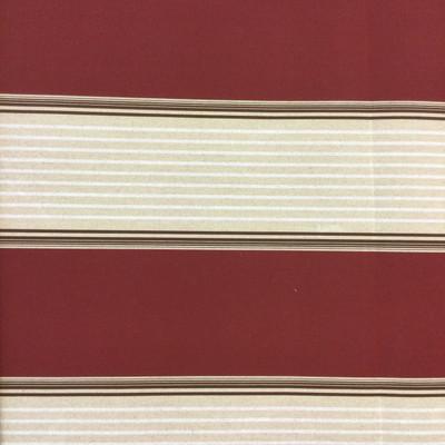 "Burgundy / Tan Vintage Stripes   Outdoor Awning / Marine Fabric   Sunbrella-like   46"" Wide   By the Yard"