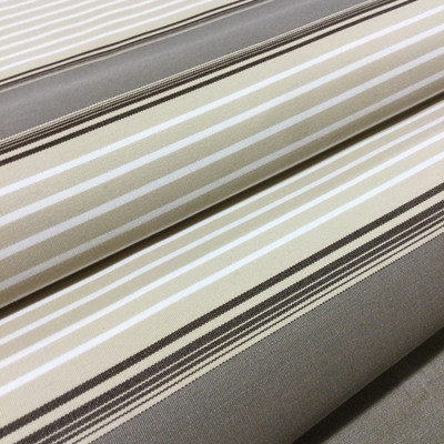 """Taupe / Beige / Brown Vintage Stripes   Outdoor Awning / Marine Fabric   Sunbrella-like   46"""" Wide   By the Yard"""