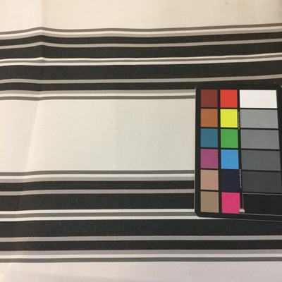 """Black / Gray Stripes   Outdoor Awning / Upholstery Fabric   Sunbrella-like   46"""" Wide   By the Yard"""