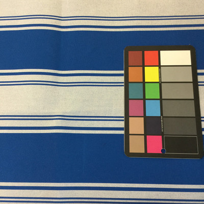 """Royal Blue / Light Blue Stripes   Outdoor Awning / Upholstery Fabric   Sunbrella-like   46"""" Wide   By the Yard"""