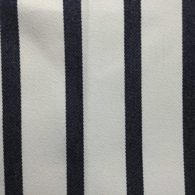 Navy Blue and White Vertical Stripes   Indoor / Outdoor Fabric   Upholstery / Drapery   54 Wide   By the Yard