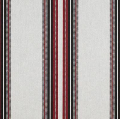 4798-0000 | Burgundy Black White Striped  Sunbrella | 46 Inch | Marine And Awning