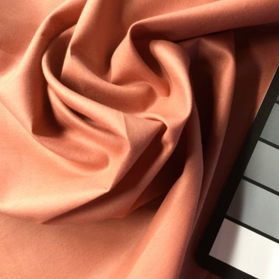 Salmon Pink Poly/Cotton Fabric | Apparel | Curtains | 45 W | BLOWOUT ITEM